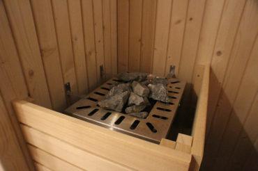 Pierres chaudes du Sauna Uhaina Spa